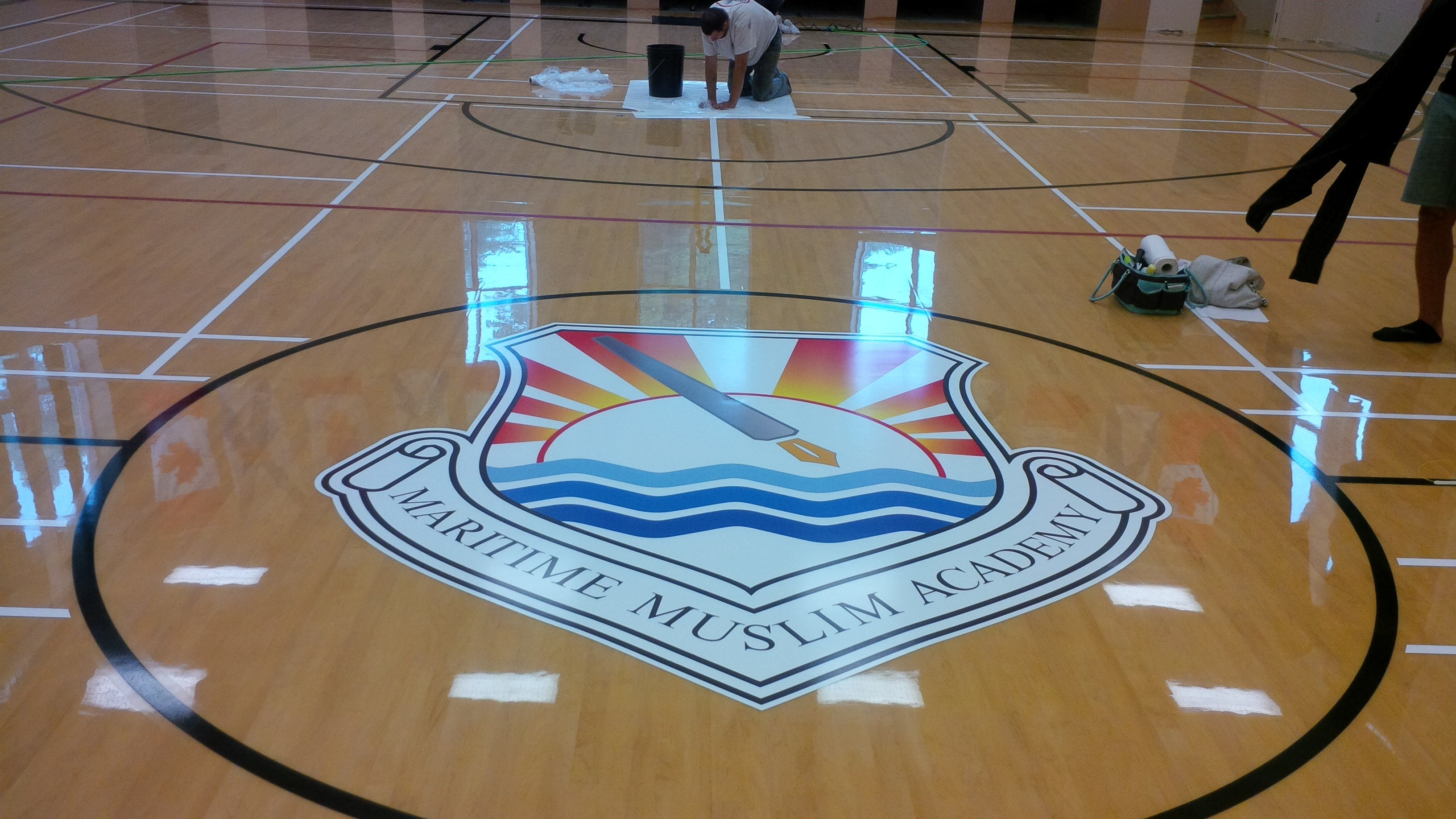 floor graphic Mattatall job Jac install